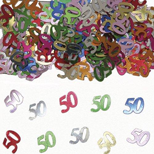 Folat 05316 - Tischkonfetti Zahl 50 - bunt - 12 x 14 gr.