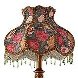 Lámpara de mesa de estilo europeo/lámpara de cabecera del dormitorio/sala de estudio/salón/Pastoral retro iluminación creativa-Regulador de intensidad