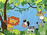 Dschungel HEVO® Handtuft Teppich | Kinderteppich | Spielteppich | Oeko Tex 100 150x220 cm für Dschungel HEVO® Handtuft Teppich | Kinderteppich | Spielteppich | Oeko Tex 100 150x220 cm