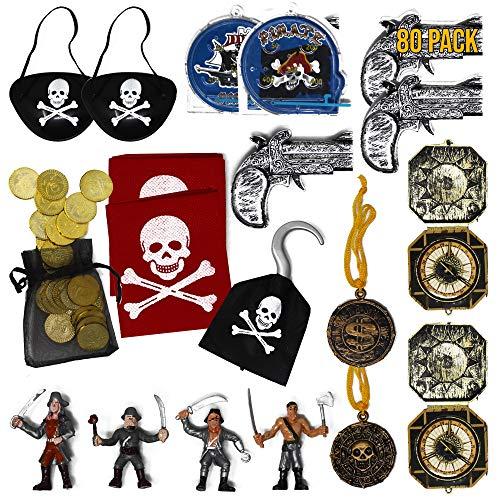 The Twiddlers Piraten Mitgebsel Set, Piraten Party Zubehör Piraten - Ideal Für Kindergeburtstag gastgeschenke Party Geschenke, Spielzeug, Jungen & Mädchen, Kostüm Accessoires - Verkleiden - ()