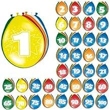 8 Globos Numero 60 Diferentes Colores Decoracion Fiestas Cumpleaños