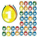 Bunte Luftballons mit Zahlen 8er Pack 50