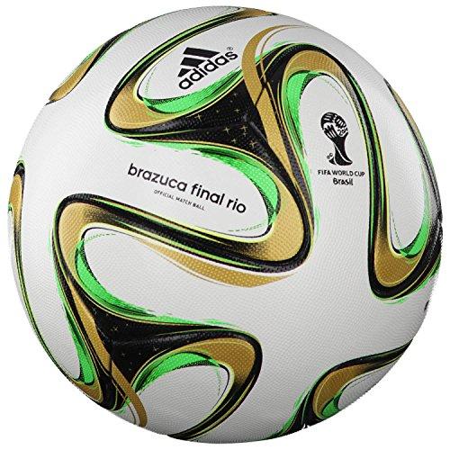 Argentinien Fußball-bälle (adidas Fussball Brazuca Finale 2014 OMB 5 White-Black-Metallic-Solar Green)