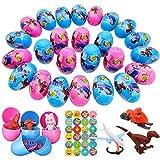 SPECOOL Colorare Uova Pasqua, 25 Pezzi Educativo Sorpresa Uova Riempimento di Giocattoli per Bambini con Diversi Giocattoli per Bambini, Regalo a Pasqua Sorpresa per Ragazzo Ragazza Festa