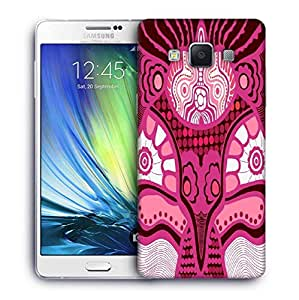 Snoogg Pink Pattern Printed Protective Phone Back Case Cover For Samsung Galaxy A7