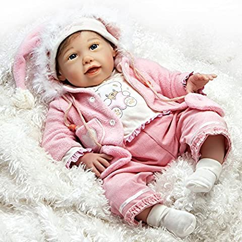 Paradise Galleries Doll Lifelike Realistic Soft Vinyl 53cm Baby Girl Doll Gift
