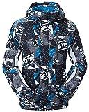 TUONROAD Giacca da Sci, Giacche da Neve Antivento Impermeabili da Uomo con Cappuccio Rimovibile Outdoor Snowboard Sportswear Imbottitura in Tessuto Cavo Mantenere Caldo per Gli Sport Invernali