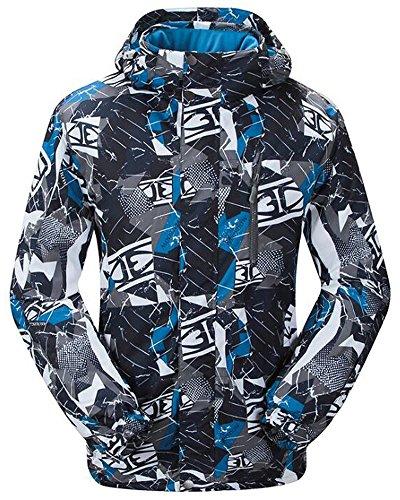 TUONROAD Herren Skijacke Schöffel Snowboardjacke Herren Softshell Jacke Ski Snowboardjacke Snowboard Jacket XL