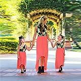 MCYs Mutter und Tochter Outfits Ärmellos Kleid Eltern Kinder Damen Mädchen Outfits Spleißen Blumen Drucken Kleider Familien Matching Kleidung Unregelmäßig (5Y, Baby)
