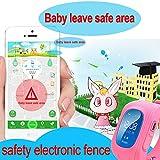 Uhren für Kinder,TURNMEON® intelligent uhr mit GPS WIFI Anti-lost Tracker Smart watch Handy mit SIM SOS Armband für Smartphone (Dark Blue) - 6