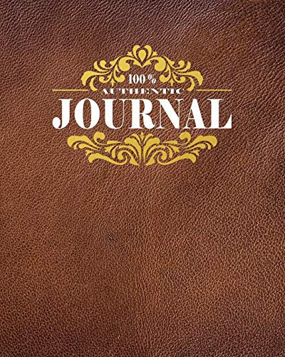 Journal: Authentic Journal - gold and leather texture make this a perfect trendy wide-ruled blank lined notebook (Pretty Blank Lined Notebook, Band 1)