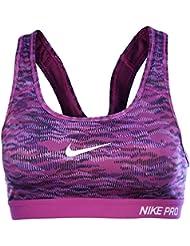 Nike Sport BH Pro Classic Pad rflct Bra morado Violett/Schwarz Talla:large