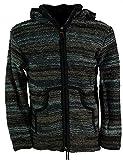 Guru-Shop Strickjacke Wolljacke Nepaljacke Batik, Herren, Schwarz, Size:XL, Jacken, Ponchos Alternative Bekleidung