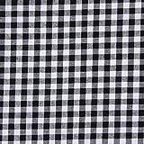Fabulous Fabrics Baumwollstoff Karo 1 cm, 18 schwarz —