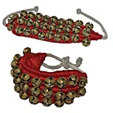 Best Line Dances - GoldGiftIdeas Brass 3 Line Red Cloth Pad Ghungroos Review