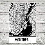 Modern Map Art Art de Montréal affiche imprimer, sticker Montréal 24 «X 36»