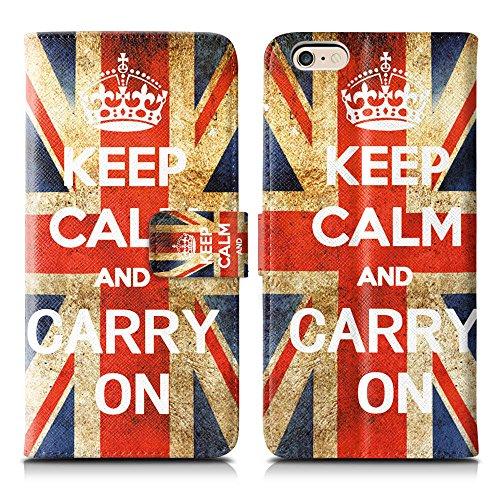 Apple iPhone 5 / 5s Handyhülle inklusive Displayfolie Keep Calm Carry ON Keep Calm Carry ON