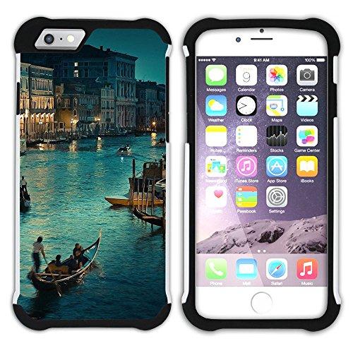 Graphic4You Mailand Italien Postkarte Aussicht Hart + Weiche Kratzfeste Hülle Case Schale Tasche Schutzhülle für Apple iPhone 6 Plus / 6S Plus Design #11