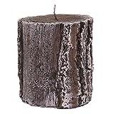 Baumstammkerze in Holzoptik Handarbeit tradingbay24 handmade Deko-Kerze Design-Kerze Stumpenkerze (Ø 11,5 cm, H: 13 cm)