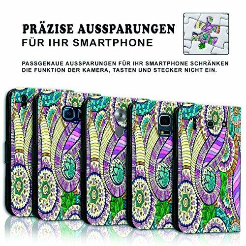 Wallet Book Style Flip Handy Tasche Case Schutz Hülle Schale Motiv Etui für Apple iPhone 4 / 4S - Variante UMV12 Design12 Design 3