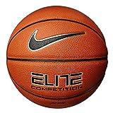 Nike Elite Adulte Baskett Balle, Ambre/Noir/Argenté, 7