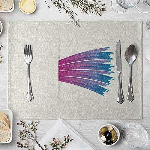 ZCHPDD Painted Spray Ins Windisolierung Tischset Western Food Tisch Kaffeetisch Matte Tischdecke Tischdecke Wasserdicht E 40 * 30Cm * 4St