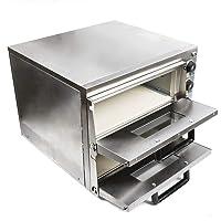 Forno per pizza Forno per pane 2 camere 3KW Forno elettrico per pizza in acciaio inox Forno a torta infiammabile Forno elettrico per pizza professionale Forno con cassetto per pizza dedicato