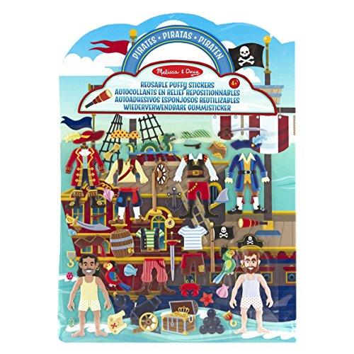 Melissa & Doug Aktivitätenbuch mit wiederverwendbaren Gummistickern - Piraten (51 Sticker)