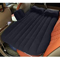 LEOPAX Inflatable Travel Car Bed Air Sofa with Two Inflatable Pillow for Car Back Seat - Black