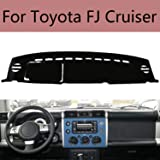 Backyard Compatible with Auto Car Dashboard Cover for Toyota FJ Cruiser Left Hand Drive Dash Mat Covers Auto Dashboard Protec