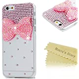 Mavis's Diary® Funda iPhone 6 Plus (5,5 pulgadas)(Arco rosa) - 3D Bling Diamantes Funda Duro Protección Transparente PC Case Cover Cáscara