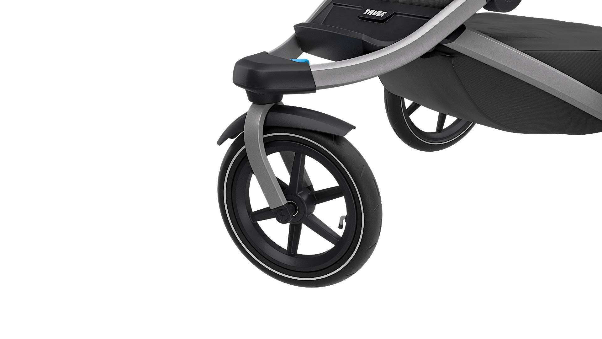 Thule Urban Glide 2.0 Jogging Stroller (Thule Blue w/Silver Frame) Thule One-handed, compact fold for easy storage and transportation Integrated twist hand brake provides speed control on hilly terrain Multi-position canopy with side-ventilation windows ensures your child is comfortable 7