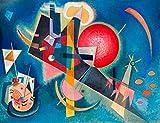 Cuadro de Wassily Kandinsky «Im blau» de 70x 50cm, impresión sobre panel de madera DM, borde negro