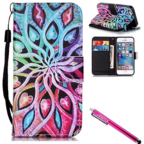 iPhone 6S Case, iPhone 6 Wallet Case, firefish Ständer Flip Folio Wallet Cover Stoßfestigkeit Schutzhülle mit Karten Slots Magnetverschluss für Apple iPhone 6/6S 11,9 cm For iPhone 6/6S 4.7