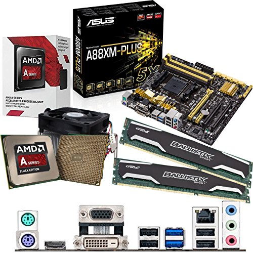 Compare Prices for AMD Kaveri A8-7600 3.1Ghz CPU, ASUS A88XM-PLUS Motherboard & 8GB DDR3 1600Mhz Crucial Ballistix Sport RAM Pre-Built Bundle Review