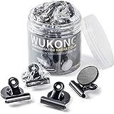 Wukong 12 stuks zwarte magnetische clips metalen magneten haken klemmen klemmen koelkastmagneten voor koelkast, prikbord, bor
