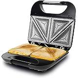 Cecotec Parrilla Eléctrica Rock´n Toast Fifty-Fifty. Revestimiento Antiadherente RockStone, Capacidad para 2 Sandwiches, Supe