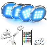 Bason Under Cabinet Kitchen Lights, Under Cupboard Lighting with Remote Control, LED Colour Changing Kitchen Shelf Decoration