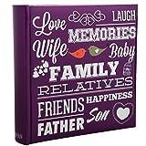 Arpan Slip en Memo Famille violette a 200 contient 6x4'/ 15x10cm Album photo