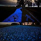 künstliche Kieselstein Leuchtsteine 100 Stueck leuchtende Kiesel Aquarium Floureszierende Pebbles Stein Garten Gehweg (blue)