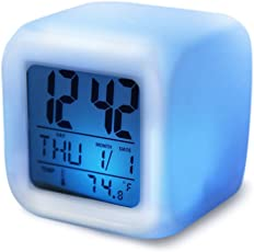R Dabhi Colour Changing LED Digital Alarm Clock with Date, Time, Temperature For Office Bedroom (1 pc)