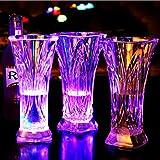 owikar taza luminoso LED Colorful intermitente Bar cerveza taza inductivo cambio de color automático de agua Activado cola zumo vino LIQUID vaso de Whisky gafas tazas para bar discoteca noche Club Fiesta