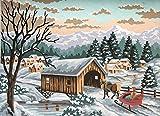 grafitec Gedruckt Tapisserie/Set–Winter Schlitten