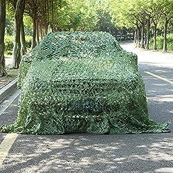 Toldo de lona: aislamiento de malla de protección solar verde y ventilación de oscurecimiento, red de camuflaje para acampar, ejercicios militares, jardín, piscina (tamaño personalizable),3x5m (9.8