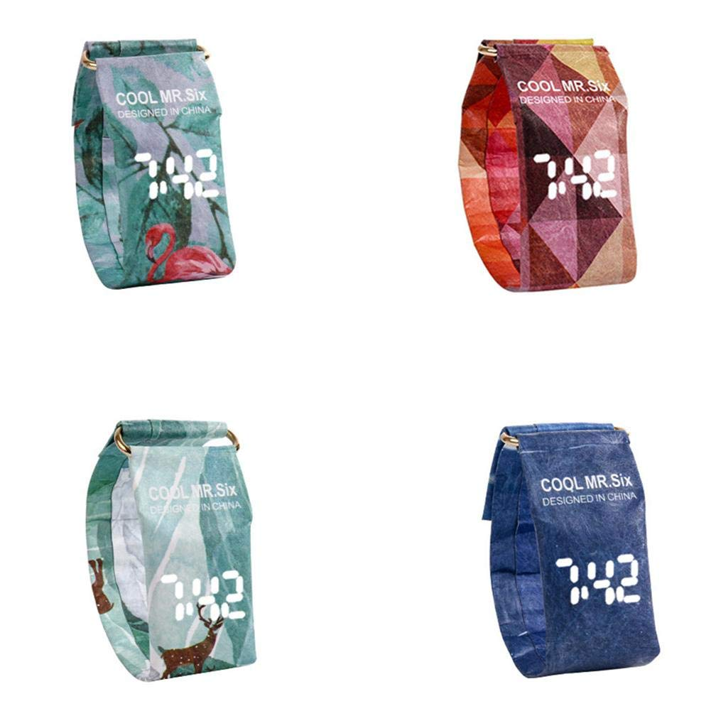 supertop Waterproof Paper Watch Paper Digital Watch Innovative Personality LED Smart Watch Outdoor Hiking Swimming Fashion Watch