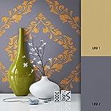 NEWROOM Barocktapete Tapete grau Ornament Schnörkel Barock Vliestapete schwarz Vlies moderne Design Optik Barocktapete Wohnzimmer Modern inkl. Tapezier Ratgeber