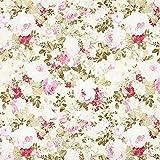 Fabulous Fabrics Dekostoff Ottoman Rosenpracht - Creme/rosa