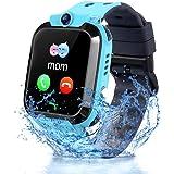 Vannico Reloj Inteligente Niño, Smartwatch para Niños IP68, LBS, Juegos, Llamada, SOS, Cámara, Chat de Voz, Modo de Clase, Re