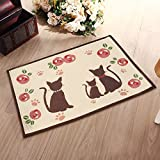 Alicemall Area Rugs for Living Room Anti-skid Dining Room Bedroom Carpets Kichen Mat Door Mat 20 x 28 inch (Cat Print_50*70cm)