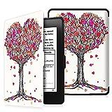 Fintie SlimShell Funda para Kindle Paperwhite - La Más Delgada y Ligera Carcasa de Cuero Sintético con Función de Auto-Reposo/Activación (No se Adapta a 10.ª generación 2018), Autumn Love